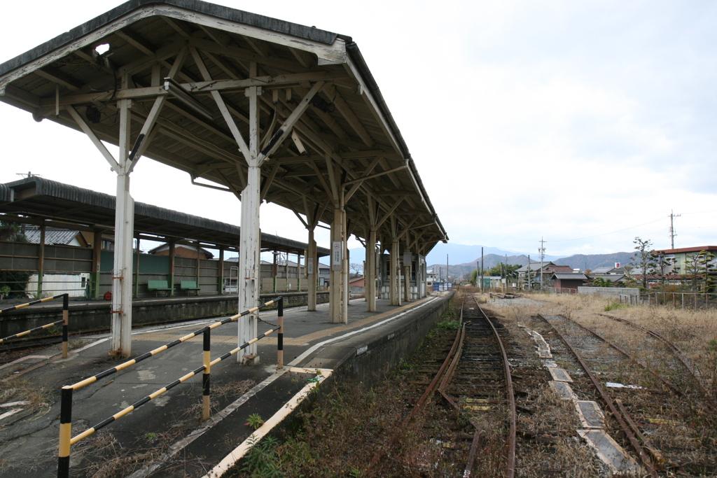 廃線の名鉄谷汲線を歩く 黒野駅