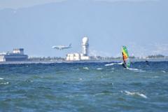 windsurfing&Airplane!!!