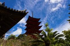 青空に浮かぶ五重塔