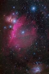 馬頭星雲とランニングマン星雲