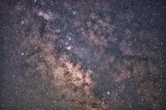 天の川と(多分)流星