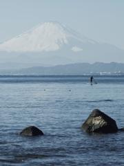 江ノ島から富士山を眺める