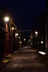 古き街の夜