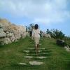 石灰岩の階段