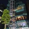 東京の夜 スケルトンビル