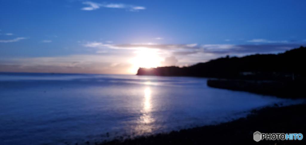 川奈埼と朝陽