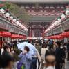 小雨の浅草寺