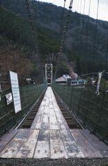 恐ろしいつり橋