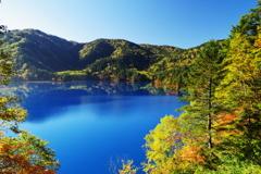 大沼池の青