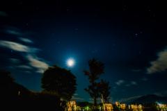 月と星と夜景