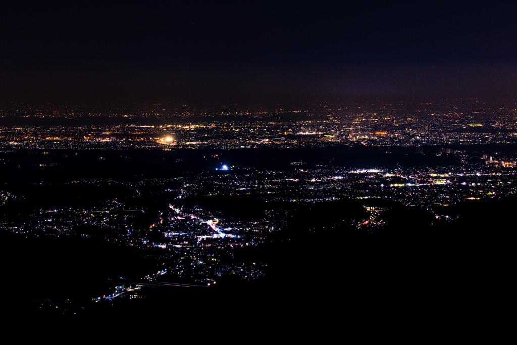 景信山より、夜景の練習