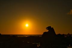 男鹿半島 ゴジラ岩②