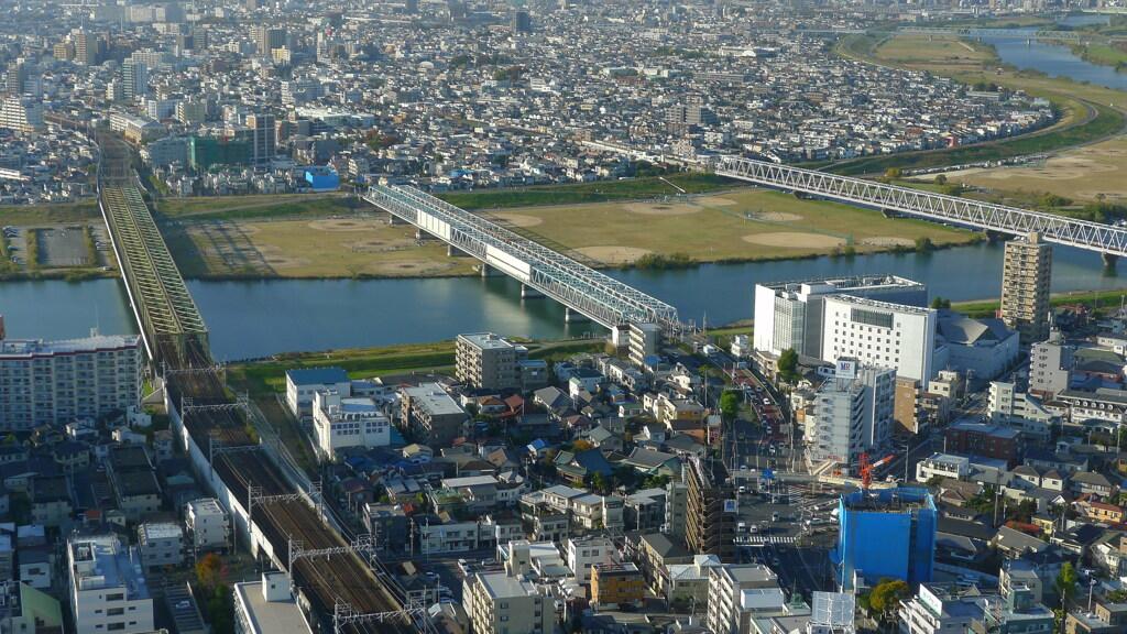 地上100m超 景色 鉄橋