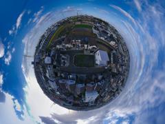 空撮 パノラマ球面