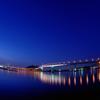 Candle carnival Hiroshima bay bridge