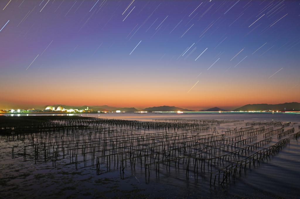 瀬戸内海に星巡る