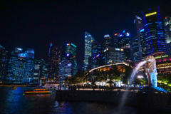 The Night View of Raffles Place