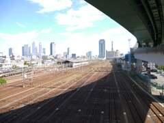 名古屋駅を望む