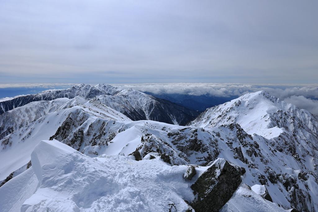 中央アルプス冬景