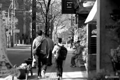 午後の歩道