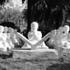 Praying children at Five Senses garden