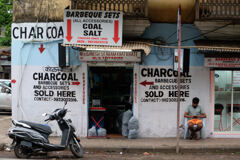 Charcoal shop, Down town in Goa