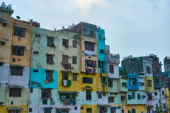 Apartments at roadside