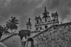 Panjim Church, Goa - Monochrome 2