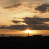 鉄塔と夕日