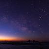日の出前の天の川