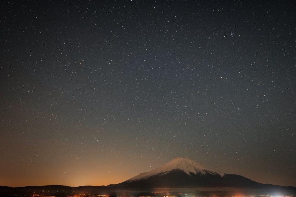 山中湖 夜景トライ3
