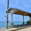 海に臨む駅