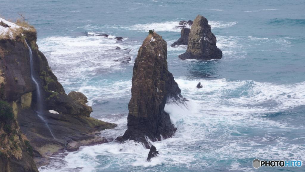 こちらが定番「屏風岩」