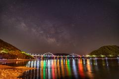 内海大橋と天の川