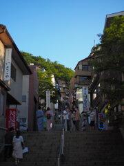 温泉街の表の景色