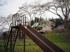 老遊具と春