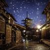 法観寺の雪景色
