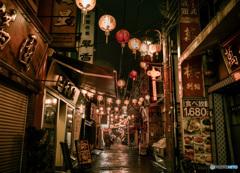 閉店後の中華街
