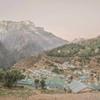 山のある風景 in ネパール