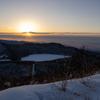 赤城山、山頂からの日の出