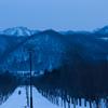 冬の手稲山を望む