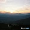 山で見た夕焼け