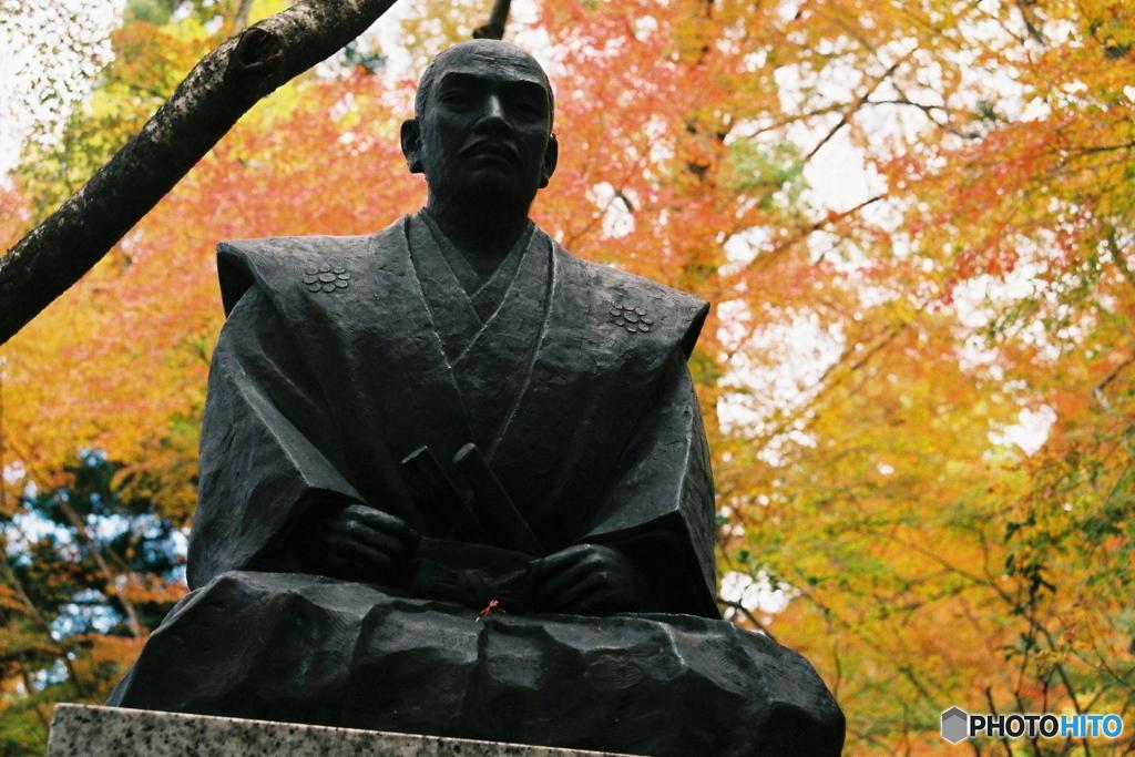 石田三成と紅葉