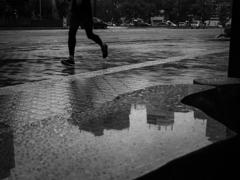 雨のランナー