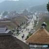 雨の大内宿(福島県)