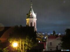 夜のカトリック本町教会