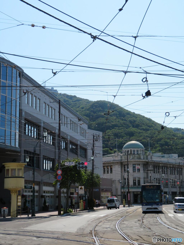 市電が通る風景
