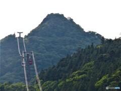 筑波山とロープウェイ