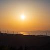風車と夕焼け 1