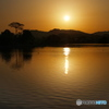平池の夕陽